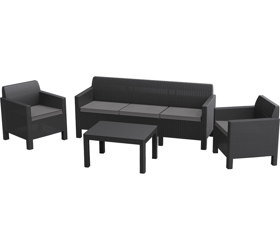 Дачная мебель Orlando set with 3 seat sofa