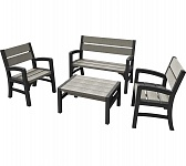 Мебель для сада WOOD LOOK & FEEL BENCH SET